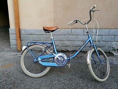 bici bicicletta vintage pieghevole tipo graziella ruota da 20 pollici