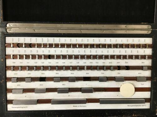 German Made 81 Piece Rectangular Gage Block Set (Missing 6 Blocks)