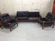 Vintage Tessa 3 piece sofa lounge black Restoration project. Miss Kewdale Belmont Area Preview