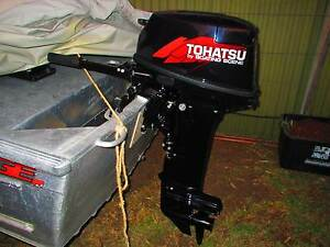 TOHATSU 18HP LONG SHAFT OUTBOARD AND FUEL TANK Semaphore Park Charles Sturt Area Preview