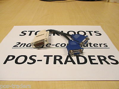 MOLEX 887-6852-00 1x DMS-59 To Dual 2x VGA Splitter Cable ** Monitor Video PC