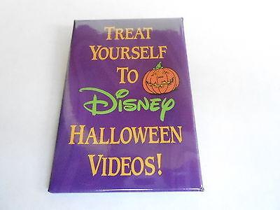 VINTAGE PROMO PINBACK BUTTON #90-052 - DISNEY - HALLOWEEN VIDEOS - Promo Disney Halloween