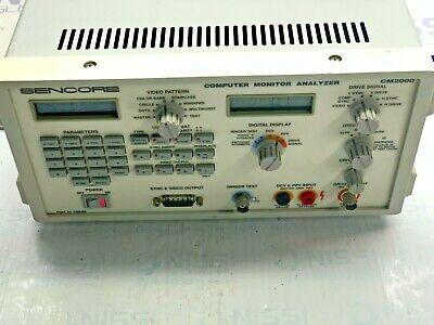 Sencore Cm2000 Computer Monitor Analyzer