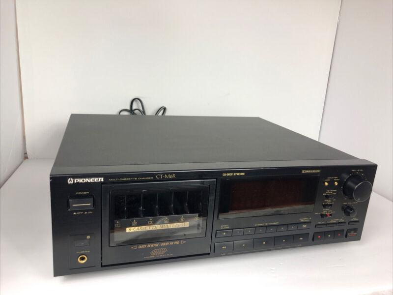 PIONEER CT-M6R MULTI CASSETTE CHANGER RECORDER AUTO REVERSE HX PRO METAL 6 TAPES