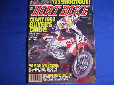 DIRT BIKE magazine-FEB 1993-YAM YZ80-HUGE BUYERS GUIDE-PARIS SUPX-BEST RIDER IN