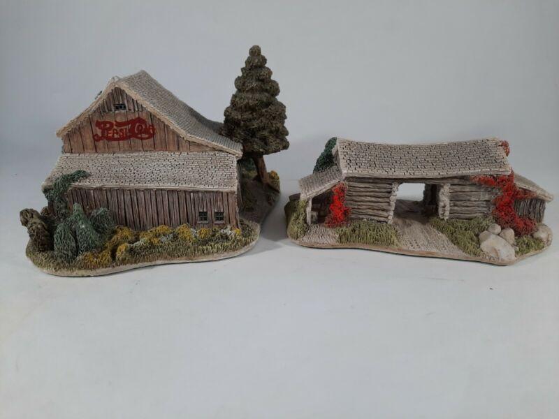 Lot Lilliput Lane American Landmarks Collection PIONEER BARN & PEPSI COLA BARN