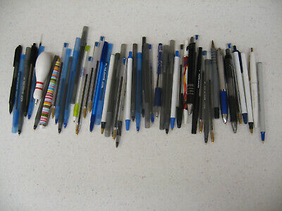 Lot Of 60 Assorted Pens Various Styles Click Ball Point Bic Advertising
