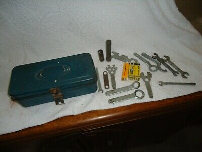 Vintage 1960s Honda Motorcycle RK Spanner Wrench, metric Tools w/tool box