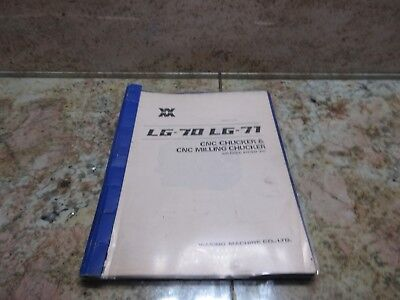Wasino Lg-71 Lg-70 Cnc Lathe Maintenance Manual Cnc