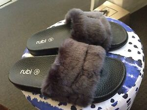 Fluffy slip on shoes Highland Park Gold Coast City Preview