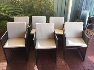 Outdoor chairs x 6