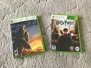 "Halo 3 and Harry Potter ""the deathly gallows part 2"" Xbox360"