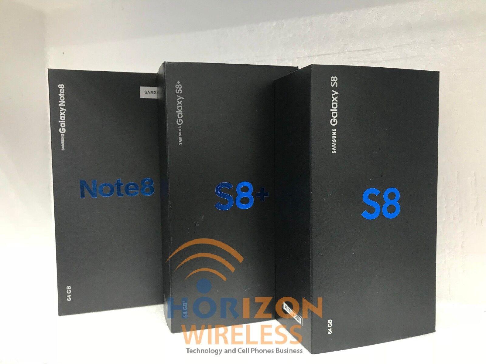 Samsung Galaxy S8+ SM-G955U, S8 SM-G950U, Note8 SM-N950U-64GB-(Unlocked)