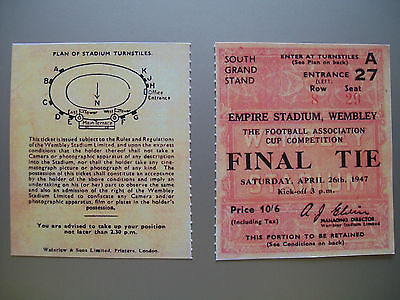 1947 F.A. Cup Final Ticket Charlton Athletic v Burnley Mint condition