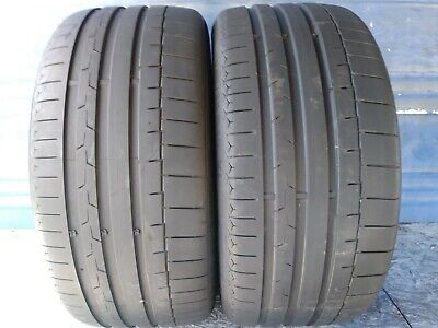 2 CONTINENTAL SPORT CONTACT 6 X/L 245 35 19 AUDI WITH 6.25/32nd TREAD LEFT 93 Y