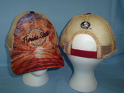 FLORIDA STATE SEMINOLES  Brilliant Mesh Snapback CAP/HAT One Size Fits All NWT Florida State Cap