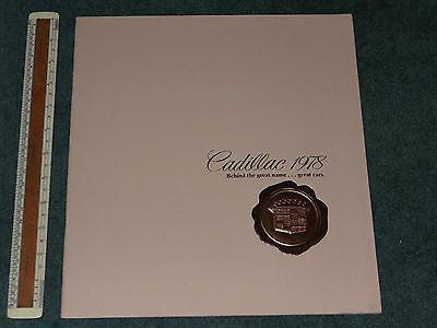 CADILLAC range high quality brochure 1978 (USA print)