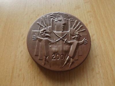 *Meissen* Porzellan Medaille* Tag der offenen Tür 2001 *ca,53mm(17)