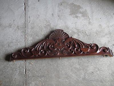 Antiguo Hermoso Marquesina Armario de Madera Tallado Decoración Puerta Luis segunda mano  Embacar hacia Spain