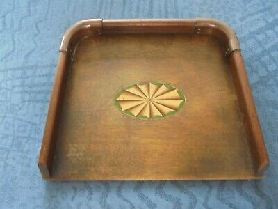 Vintage Inlaid wooden / copper Crumb Tray Pan