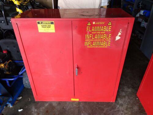 "Justrite Flammable Liquid Storage Cabinet 44""x43""x18"""