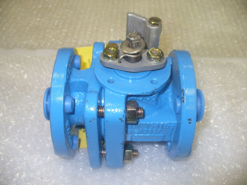 """FLOWSERVE Plug Valve 150#, RF, CS BODY, TFE LINED Size: 1"""" IN"""