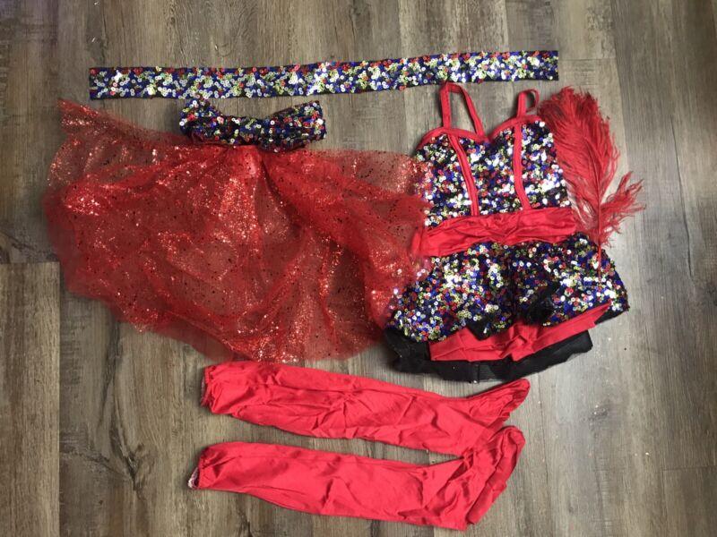 NWT Costume Gallery Dance Costume, Musical Theater , Jazz, Dress Up Child Medium
