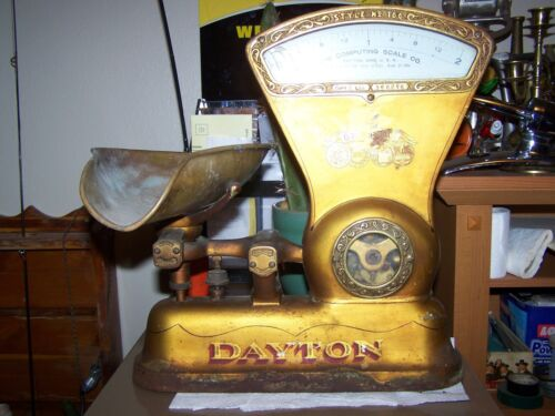 Vintage 1906 2lb Dayton Candy Counter Scale General Store Display Advertising
