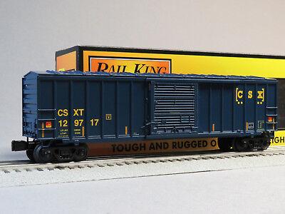 Mth Rail King Csx 50 Foot Modern Box Car O Gauge Train Boxcar Csxt 30 74892 New