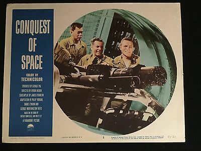 CONQUEST OF SPACE Original 1955 US SCI FI Lobby Card GEORGE PAL