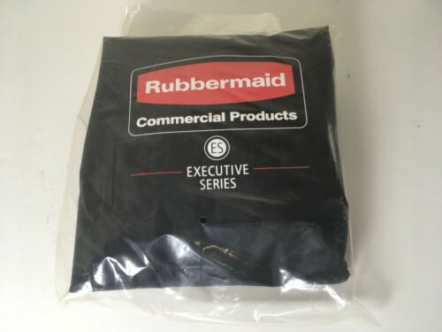 Rubbermaid 6187 Heavy-Duty Fabric Cleaning Cart Bag, Black (RCP6187BLA)