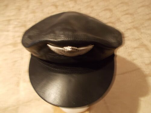 HARLEY- DAVIDSON 100TH ANNIVERSARY LEATHER HAT/CAP, SIZE LARGE