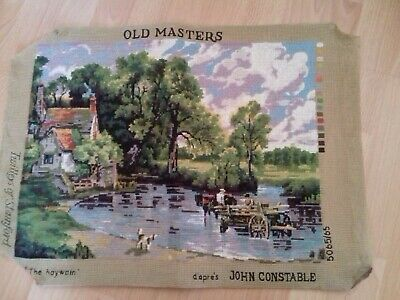The Haywain John Constable Completed Wool Tapestry Twilleys Size  48 x  36 cm