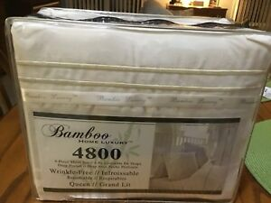 Bamboo Queen Bed Sheets Brand New