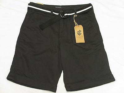 $68 NWT Mens Rocawear Belted Volume Twill Cuffed Shorts Black Urban Size 32 M836