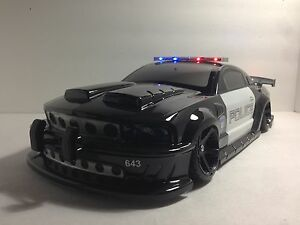 200mm police mustang painted 1 10 rc touring car body rc drift car body ebay. Black Bedroom Furniture Sets. Home Design Ideas