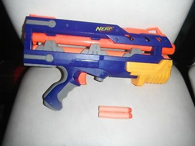 Nerf N Strike Blue Longshot CS-6 FRONT GUN BARREL EXTENSION Attachment w darts