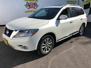 2016 Nissan Pathfinder SV, 3rd Row Seating, Leather, Sunroof, 4x