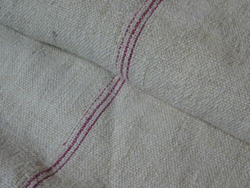 Antique European Feed Sack GRAIN SACK Red Stripe # 8159