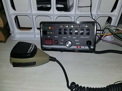 Whelen Remote Ws295hfs4 Control Head And Microphone.
