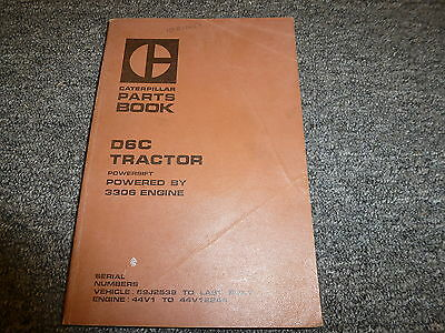 Caterpillar Cat D6c Powershift Crawler Tractor 3306 Engine Parts Catalog Manual
