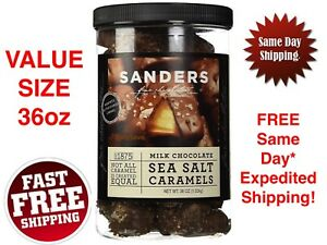 SANDERS Milk Chocolate Sea Salt Caramels Fine Chocolates VALUE SIZE 36oz