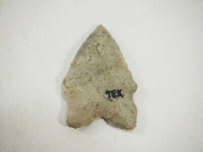 Nice Archaic-Paleo Flint Bifurcate Arrow head San Marco Texas NAA-271
