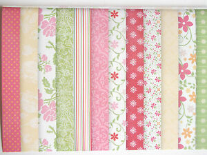 12-sheets-6x6-DOVECRAFT-SCRAPBOOK-PAPER-GARDEN-PARTY