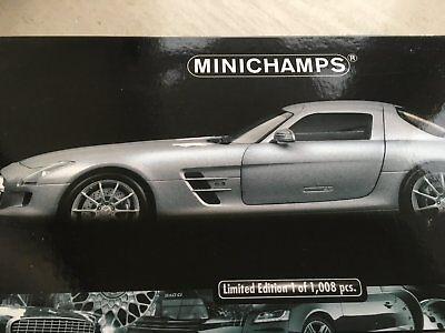 Mercedes sls amg minichamps 1:18 matt silver brand new