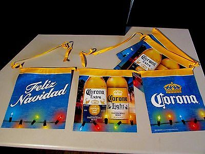 18' Corona Extra Christmas Light Feliz Navidad Beer String Banner bar Sign B8