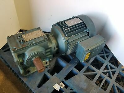 Sew Eurodrive Dft90l4 2hp 3 Phase Motor With S57dt90l4 Gearbox 1720 Rpm