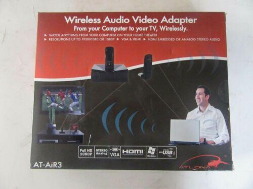 V105 ATLONA  AT-AIR3 WIRELESS AUDIO VIDEO ADAPTER  NEW OPEN BOX  FREE SHIPPING