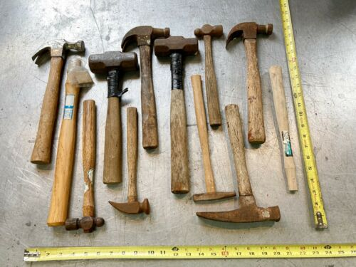 LARGE LOT Barn Fresh COLLECTION HAMMERS & handles cobbler MASON carpenter BALL