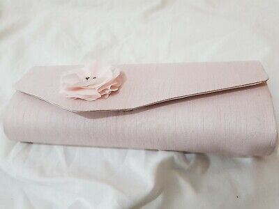 Jacques Vert Pale Pink Clutch Bag